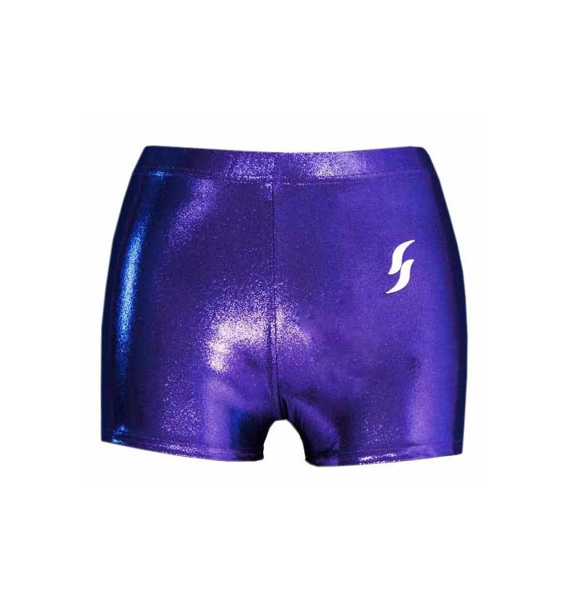 Short violet métallisé