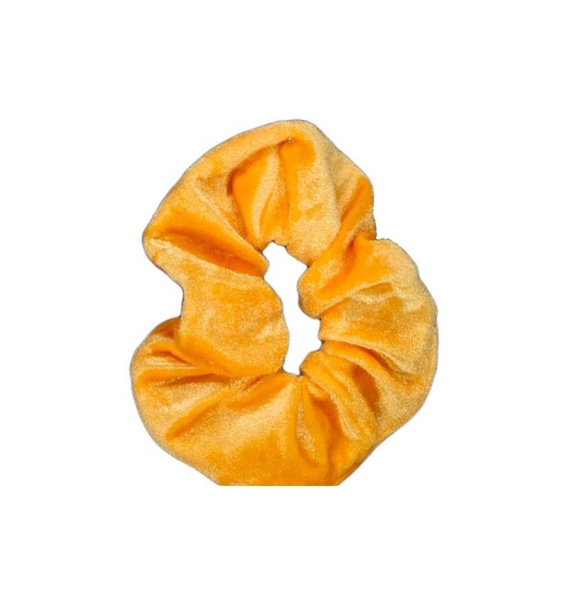 Chouchou velours orange